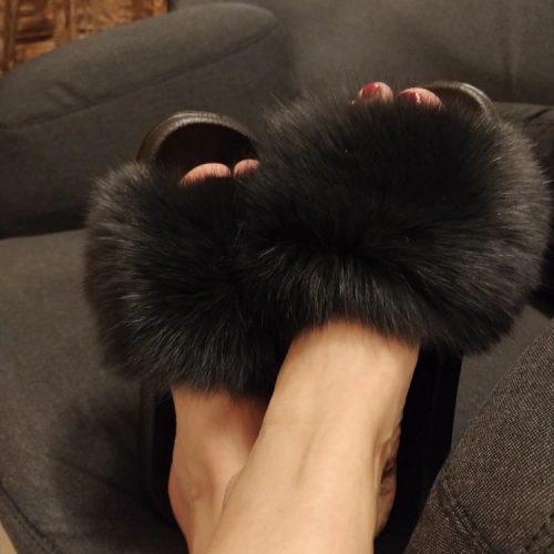 Papuci cu blană LIA FUR photo review