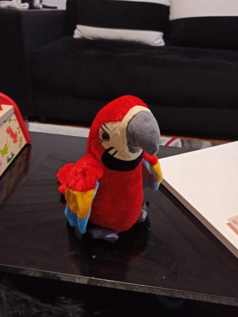 Jucărie de pluș vorbitoare papagal ORA photo review