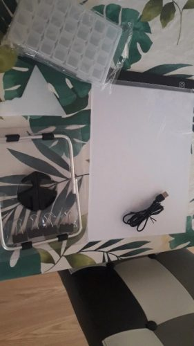 KRYSTAL Placă LED pentru desenare și creare cu cristale photo review