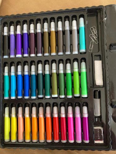 DRAWME Set de desen 150 piese pentru creare și dezvoltare photo review